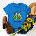 short-sleeved t-shirt women's top Merry Christmas avocado NSSN4171
