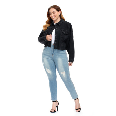 Loose Large Size Short Denim Jacket  NSSY9136