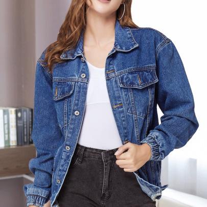 Loose Plus Size Denim Casual Jacket NSSY9160