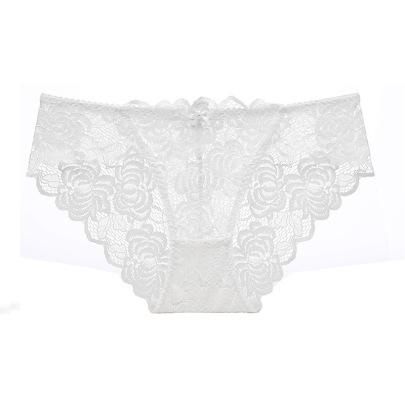 Sexy Transparent Lace Large Size Low Waist Briefs  NSCL9238