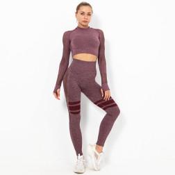 Seamless Hip-lifting High Waist Fitness Suit  NSNS10715