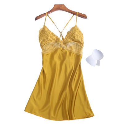 Women's Silk Sexy Suspender Nightdress  NSMR12739