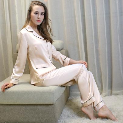 Summer Sexy Silk Pajamas NSMR12747