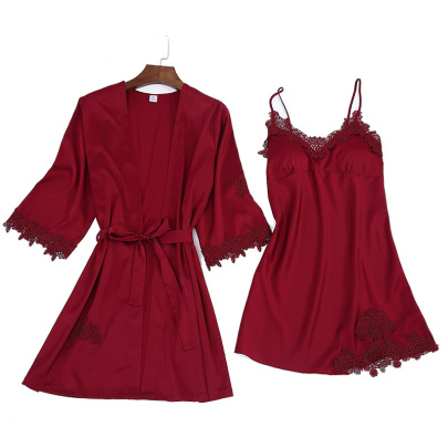 Spring And Summer Sling Nightgown Two-piece Suit  NSMR19671