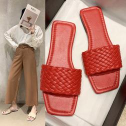 Flat Heel Woven Slippers  NSPE20064