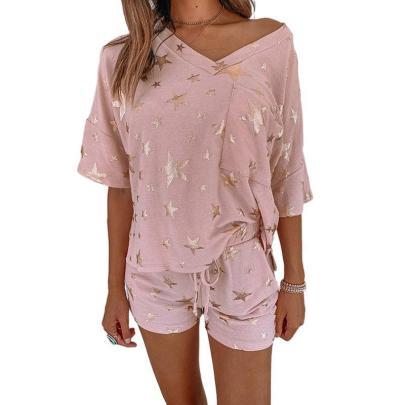 Spring And Summer Print Casual Pajamas NSZH23027