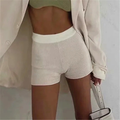 Pure Color Stretch Knit Shorts NSHS23440
