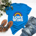 casual rainbow love short-sleeved women's T-shirt NSSN1766