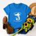 casual mermaid print short-sleeved women's T-shirt NSSN1775