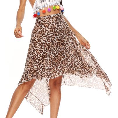 Lace Irregular Chiffon Beach Skirt  NSOY28442