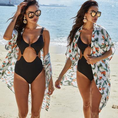 Print Cotton Beach Dress NSLM29103
