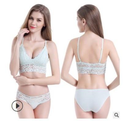 Lace Crochet No Steel Ring Underwear   NSCL30146