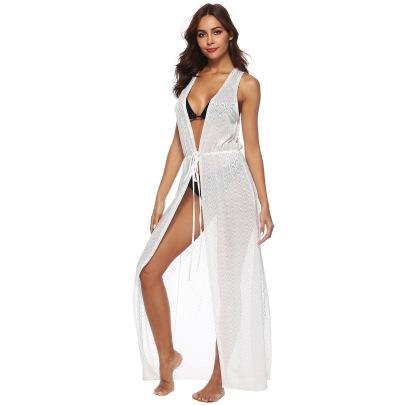 Solid Color Irregular Vest Dress NSOY30465