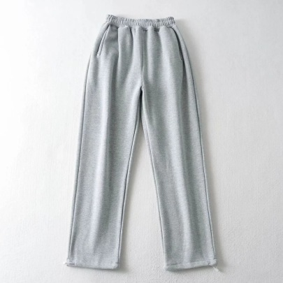 Loose Drawstring Plus Velvet Guard Pants NSHS34184
