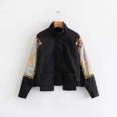 Fashion Embroidery Sleeve Baseball Jacket NSAM44597