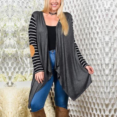 Fashion Striped Print Cardigan NSOY45962
