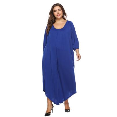 Plus Size Solid Color U-neck Jumpsuit NSOY46082