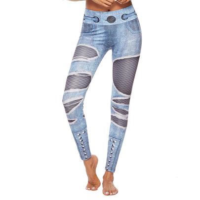 Denim Yoga Printing Leggings  NSNS47250
