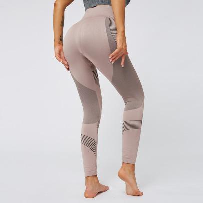 High Waist Striped Yoga Pants  NSNS47260