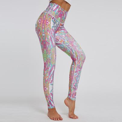 High-waist Printing Sports Yoga Pants NSNS47262