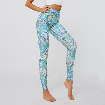 Printing High-waist Slim-fitting Sports Yoga Pants NSNS47270
