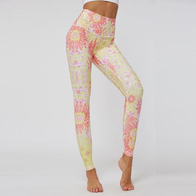 Slim High Waist Printing Sports Yoga Pants  NSNS47293
