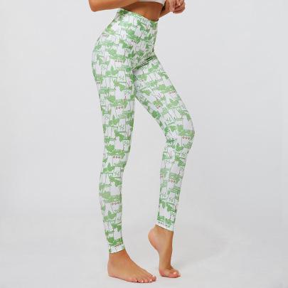 High Waist Printing Pants NSNS47295