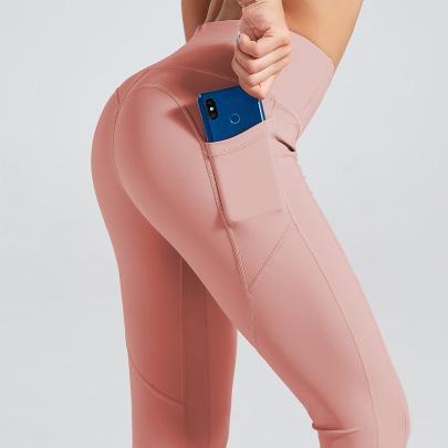 Stitching High Waist Skinny Pants NSNS47306