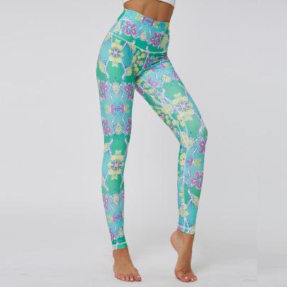 Printing Sports Tight Fitness Pants NSNS47314