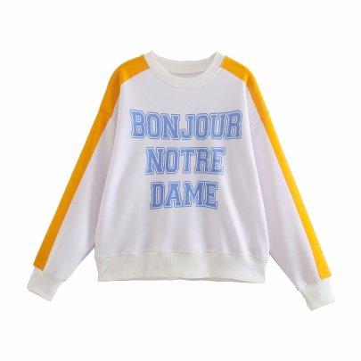 New Letter Printing Stitching Sweatshirt NSAM50400
