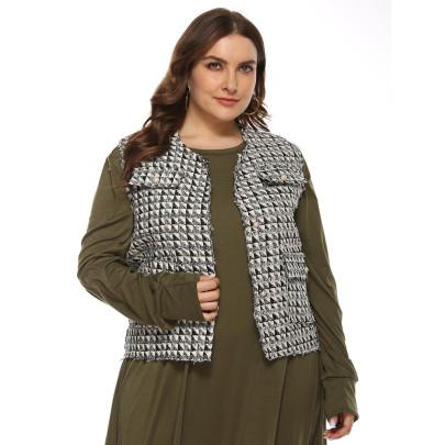 Fake Pocket Plaid Fashion Loose Vest  NSJR50650