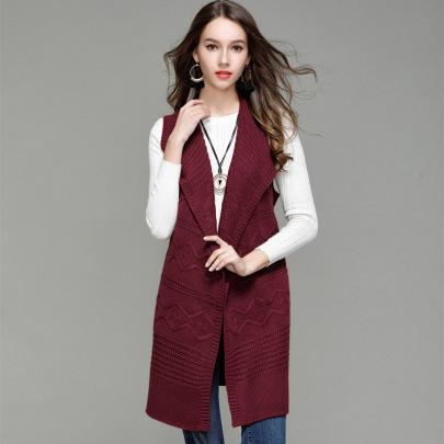 Sleeveless Belt Mid-length Knit Cardigan  NSYH51710