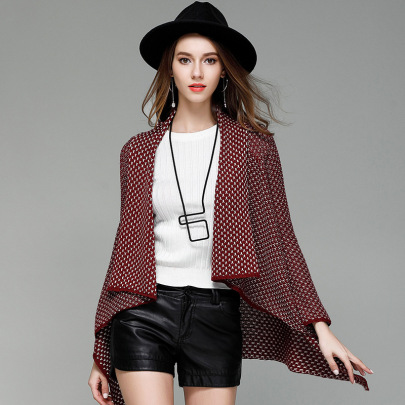 Cotton Mid-length Knitted Cardigan  NSYH51712