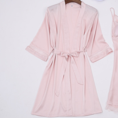 New Simulation Silk Lace Loose Nightgown NSMR52643