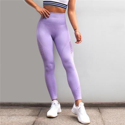 Solid High Waist Leggings NSOUX47929