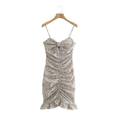 Wholesale Spring Linen Print Suspender Dress NSAM55782