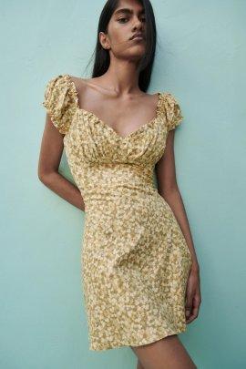 Wholesale Spring Print Fashion Comfortable Pure Colormini Dress NSAM55796