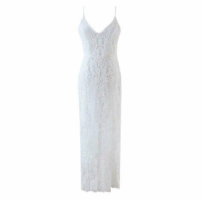 Wholesale New Lace Sling Long Fishtail Dress NSAM56010