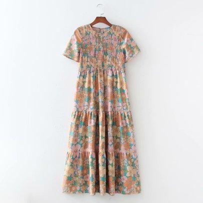 Wholesale Spring Elastic Wrap Chest Large Swing Dress NSAM56012