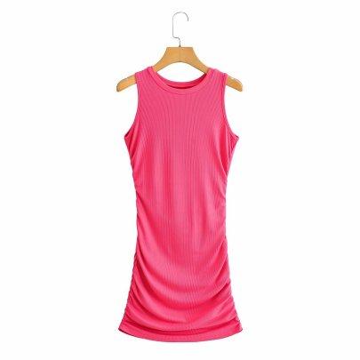 Wholesale New Vest Pleated Hip Back Waist Short Skirt  NSAM56029
