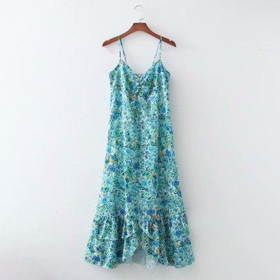 New Comfortable Wholesale Spring Floral Sling Dress NSAM56032