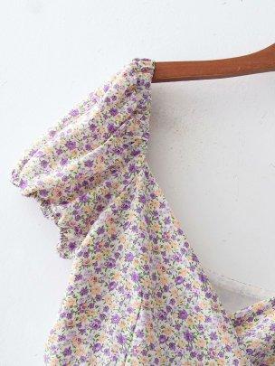 New Wholesale Spring Wrap Floral Dress NSAM56035