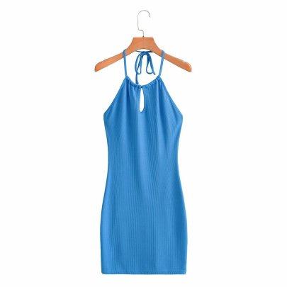 Wholesale Halter Neck Strap Backpack Hip Dress NSAM56040