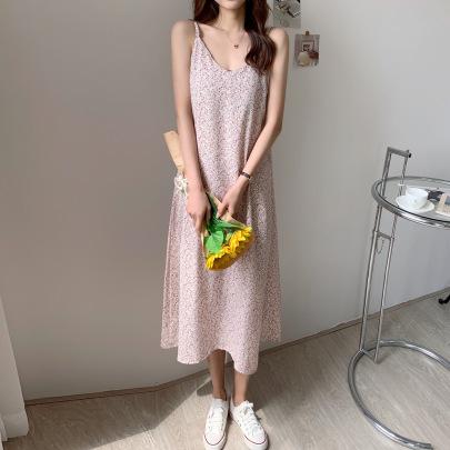 Summer Temperament Floral Mid-length Skirt NSFYF56261