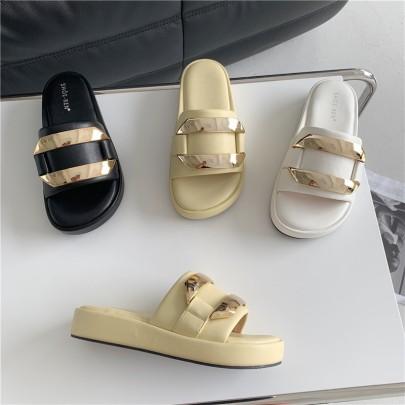 Soft Bottom Flip-flops Flat Sandals  NSHU56575