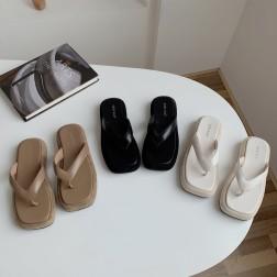 Fashion Casual Platform Square Toe Sandals  NSHU56578