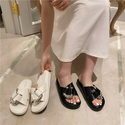New Casual Thick-soled Chain Sandals  NSHU56594