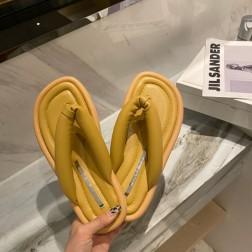 Summer Solid Color Flat Roman Sandals NSHU56604