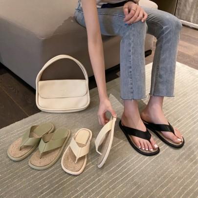 Fashion Straw Braided Hemp Rope Sandals NSHU56603