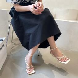 Summer New Buckle Stiletto Roman Sandals NSHU56622
